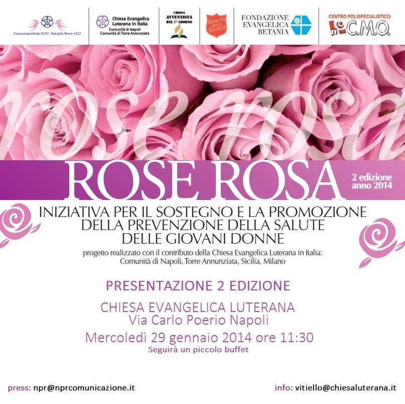 invito ROSE ROSA 2 edizione