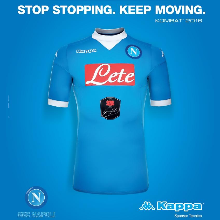 maglia ssc Napoli Kombat 2015